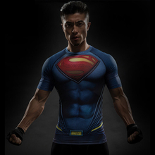 Spiderman VS Superman T Shirt Tee 3D Printed T shirts Men Short Raglan sleeve Fitness Cosplay