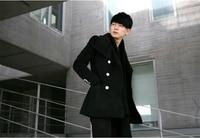 Winterjas mannen merk wol lange jas mens trenchcoat harajuku factory direct kleding britse stijl trenchcoat mannen