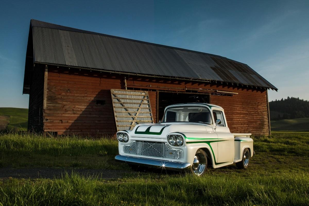 1958 vintage Chevy Pickup Stepside Custim Old School car KD462 ...