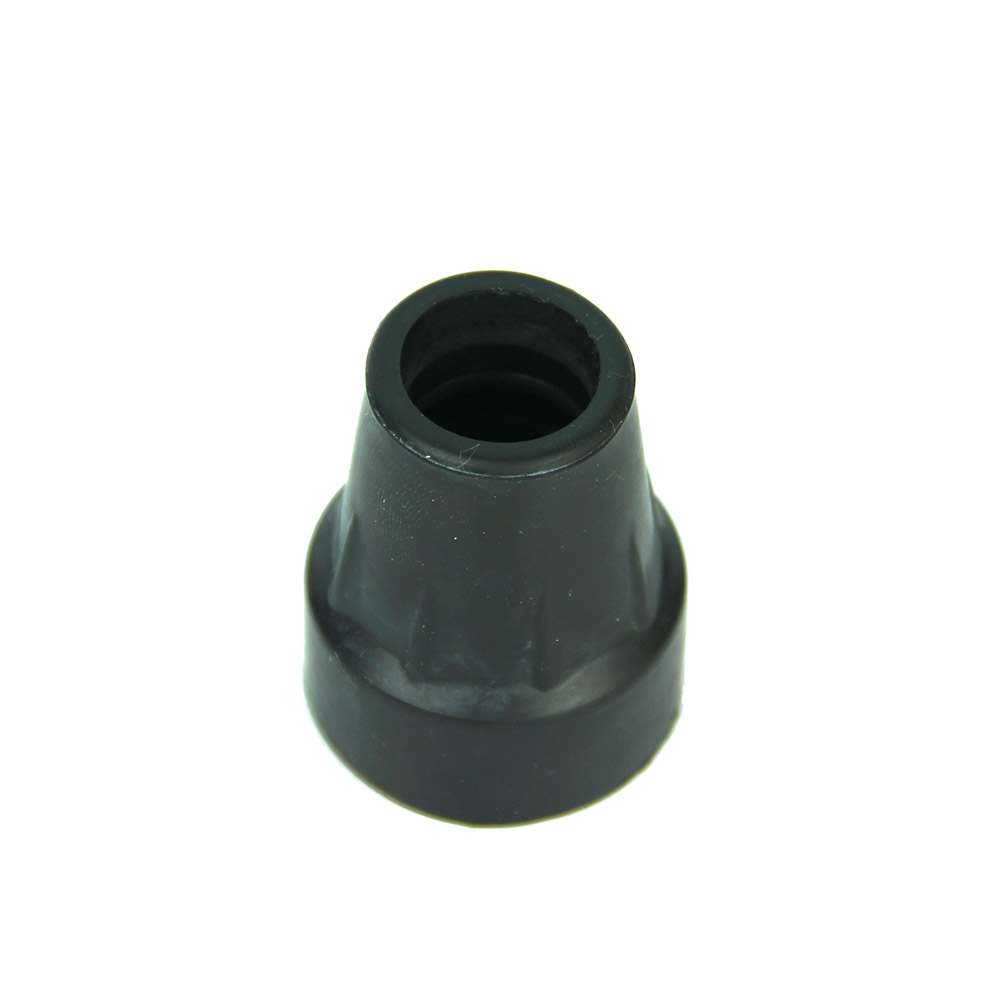1PC Rubber Walking Hiking Stick End Cover Tips Cane Crutch Pad Rubber Heavy Duty Metal Ferrule End Bottom 19mm