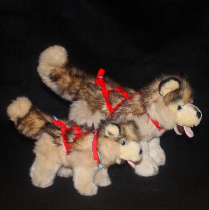 Alaskan Malamute Doll Plush Toy Simulation Dog Children Birthday Christmas Gift Stuffed Animal Toy Store