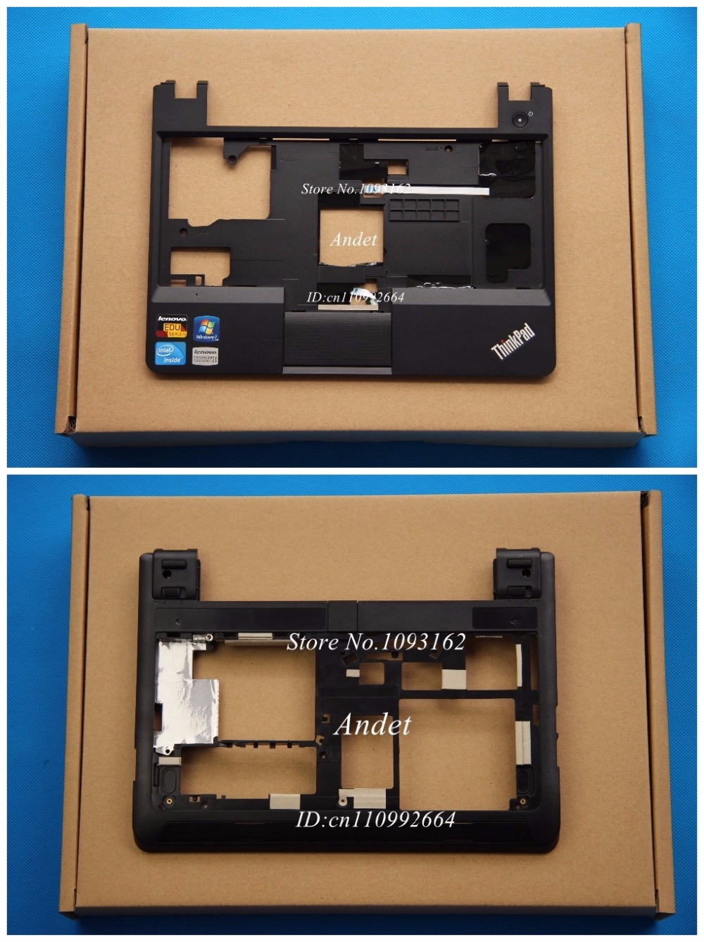 Refurbished for Lenovo Thinkpad X130E Palmrest Upper Case Keyboard Bezel + Bottom Base Cover Lower Case 04W3520 04Y2062 new original for lenovo thinkpad yoga 260 bottom base cover lower case black 00ht414 01ax900
