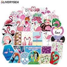 50PCS Fashion Pink Flamingo Stickers for Laptop Cars Guitar Bumper Punk Classic Vinyl Waterproof Graffiti Sticker Car Stickers
