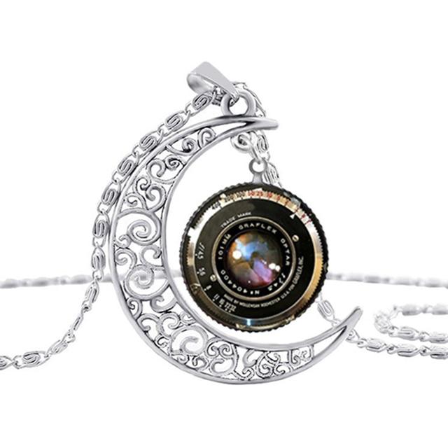 Suteyi jewelry silver moon necklace gift camera lens camera pendant suteyi jewelry silver moon necklace gift camera lens camera pendant glass cabochon necklace women gift aloadofball Gallery