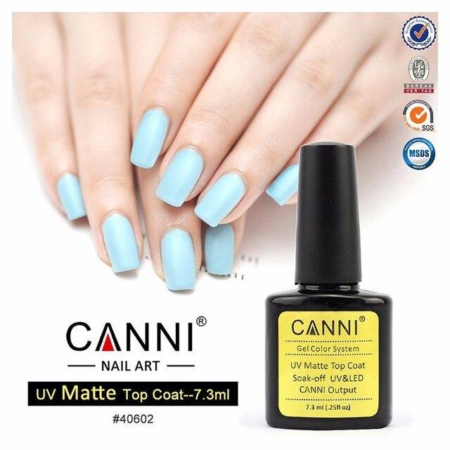 CANNI MATT UV Gel Polish Matte Top Coat Soak Off Nail Art Tips 7.3ml ...