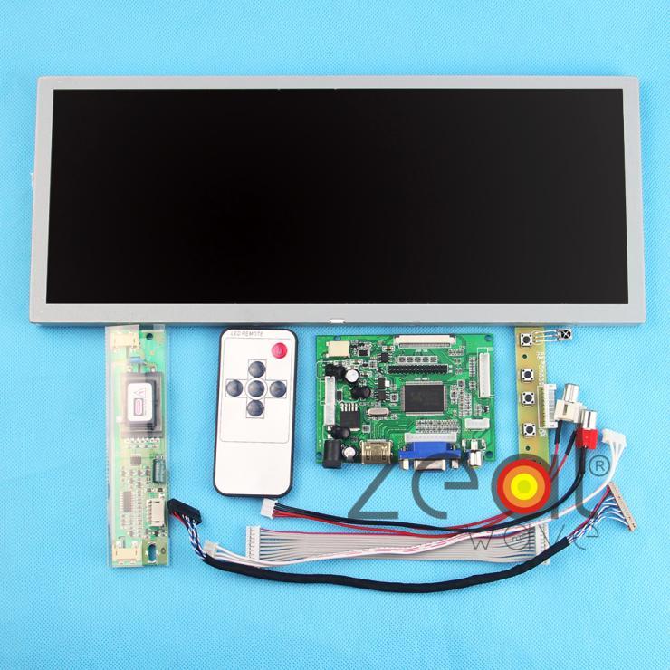 12.3 pouces 1280*480 LQ123K1LG03 Panneau D'affichage à CRISTAUX LIQUIDES + HDMI + VGA + 2AV LCD Contrôleur Lecteur Conseil LVDS câble