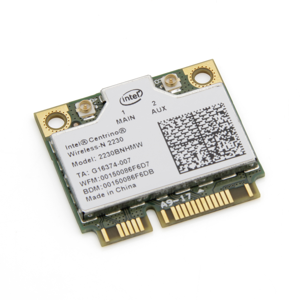 300Mbps Wi-Fi + BT 4.0 Intel Centrino Wireless-N 2230 үшін 2230BNHMW Сымсыз WiFi Bluetooth Half mini Pci-e Wlan Желілік карта