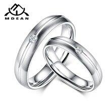 4231d9ec22bf MDEAN Venta caliente par anillos de joyería de su rey y su reina color oro  blanco anillos de boda para las mujeres de la joyería.