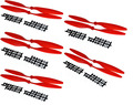 (Red) 8045 Props 80x45 CW/CCW Propeller for multicopter quadcopter FPV