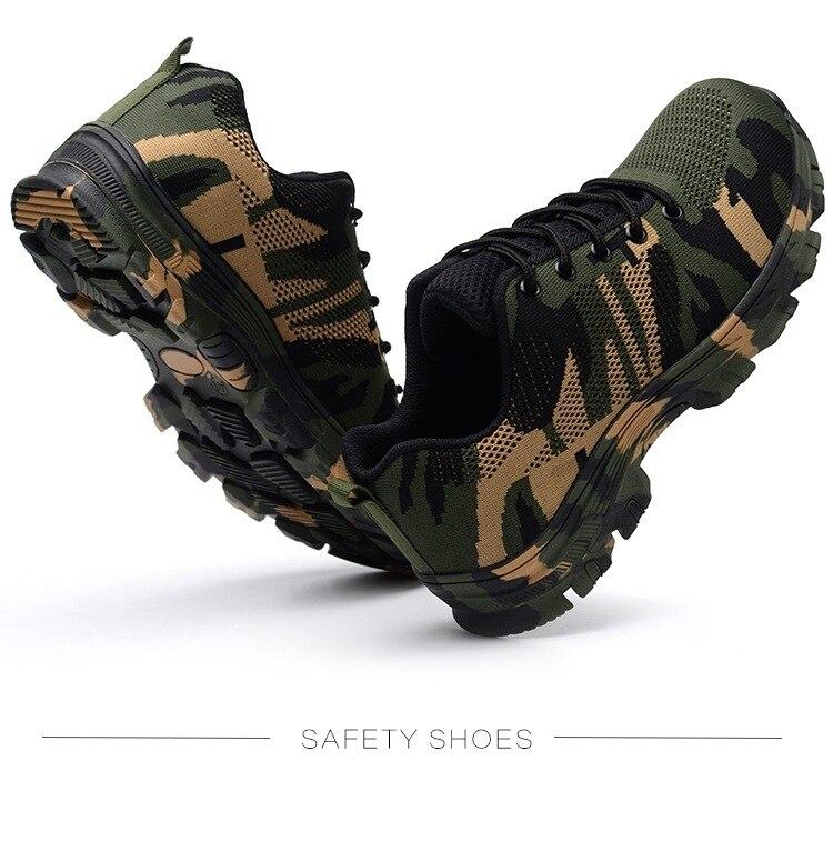 Printemps En Plein Air Chaussures de Randonnée Camouflage Militaire Amateurs de Sneakers Non-glissement résistant à l'usure Tactiques Trekking Sport Formateur