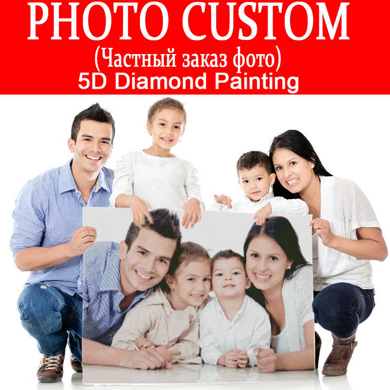 DIY PHOTO CUSTOM Diamond Painting Picture Square/Round Rhinestones Diamond Embroidery Beadwork Cross Stitch 5D Mosaic Home Decor