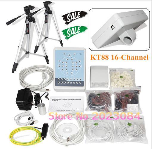 KT88-1016 16 canales de EEG digital portátil mapeo cerebral escáner