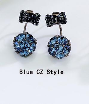 Bowknot blue CZ