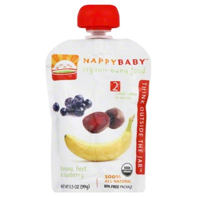 HAPPY BABY STAGE2 BNNA BEETS BLBRRY ORG-3.5 OZ -Pack of 16 spirulina pacifica powder 16 oz multi pack