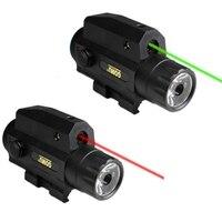 Hunting Camping Laser Flashlight Red Green Laser Sighting LED Powerful Tactical Flashlight
