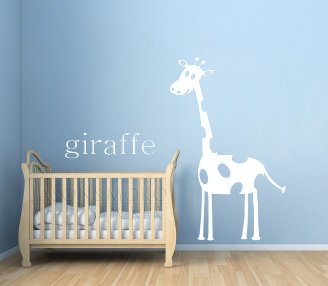 Personalized Custom Name Giraffe Nursery Wallpaper Animal For Kids Room Home Decoration Wall Sticker Art