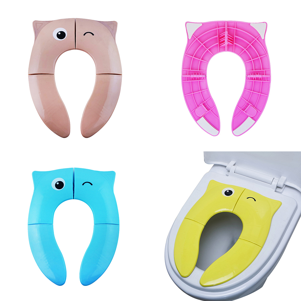 Kids Foldable Baby Potty Pad Cute Cartoon Toilet Seat Children Bedpan Portable Urinal Comfortable Pot Mat