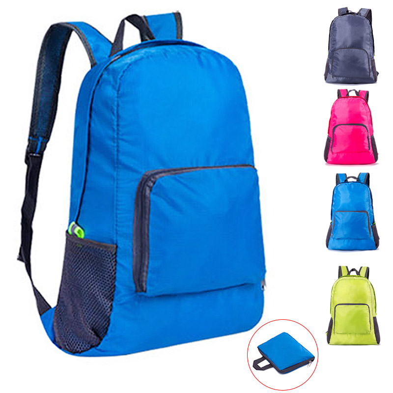 Backpack Gym-Bag Waterproof-Bag Travel Outdoor Sports Portable Women Nylon And Folded