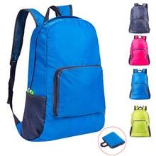 Mochila de escalada para deportes al aire libre para hombre y mujer, bolsa de gimnasio de nailon impermeable, mochila plegable portátil de viaje para ocio