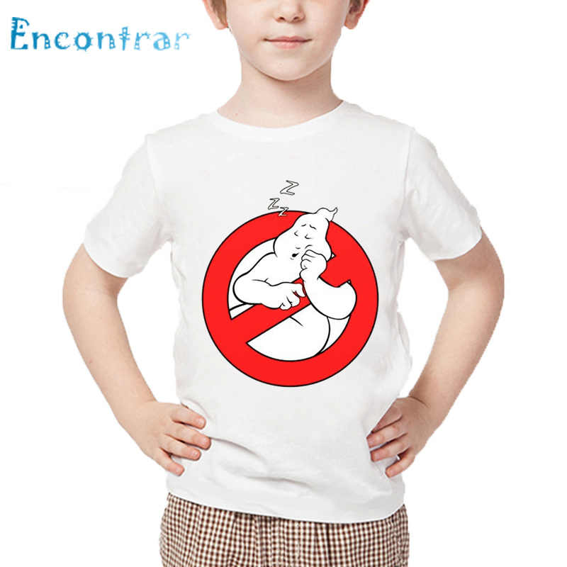 bab83c955 ... Children Cartoon Ghostbusters Funny T shirt Kids Casual Clothes Baby  Boys/Girls Short Sleeve Summer ...
