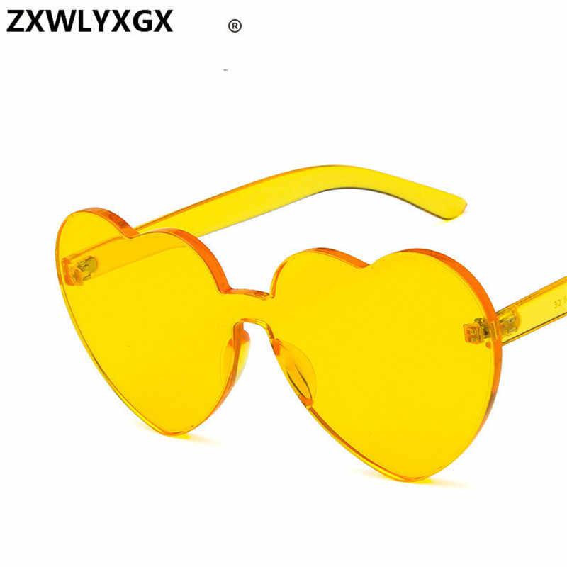 8cfc29e135 ... Nueva moda lindo sexy retro amor corazón sin montura gafas de sol de la  marca de ...