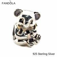 Past Pandora Armbanden 925 Sterling Zilveren Sieraden Mooie Koala Voor Vrouwen Authentieke Originele Fashion Charms CKK