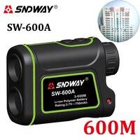 SNDWAY 600m Handheld Monocular Metre Laser Rangefinder Distance Meter Hunting Telescope Trena Laser Range Finder Measure