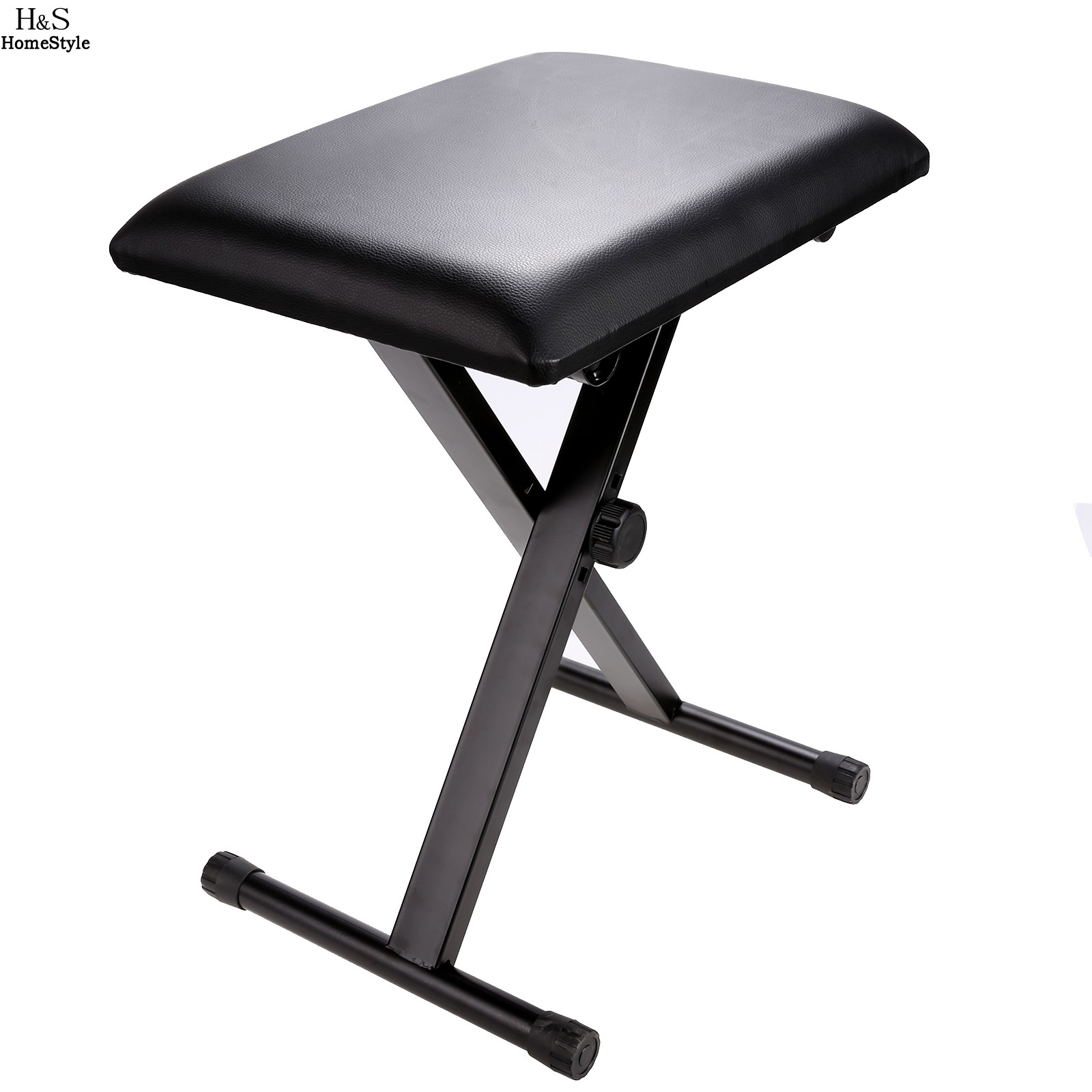 folding chair rubber feet ergonomic malta homdox adjustable piano keyboard bench leather padded seat stool n30a