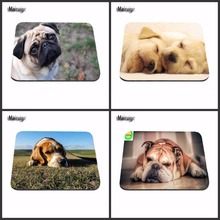 Luxury Print White Pug dog Large Pad To Mouse Notbook Computer Mousepad Domineer