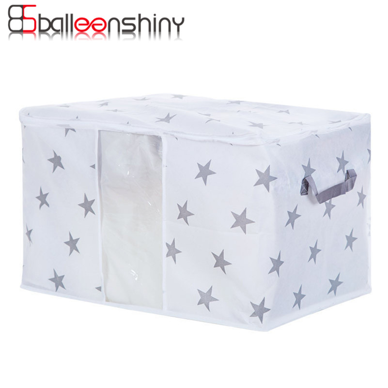 New Non Woven Fabric Folding Underwear Storage Box Bedroom: BalleenShiny Non Woven Fabric Home Storage Bag For Clothes