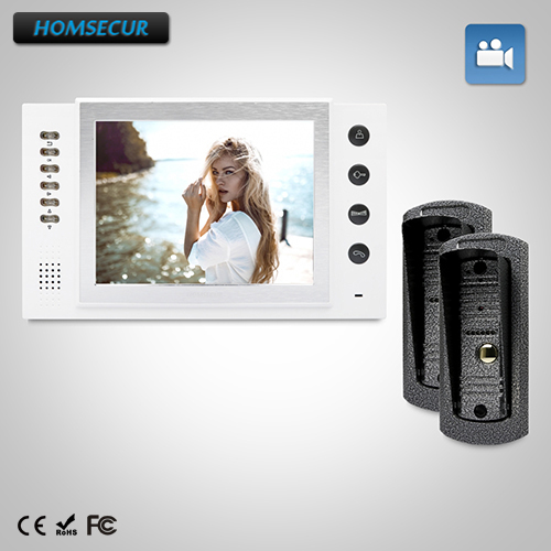 HOMSECUR 8 Wired Video&Audio Home Intercom+IR Night Vision for Home Security  TC041 + TM801R-WHOMSECUR 8 Wired Video&Audio Home Intercom+IR Night Vision for Home Security  TC041 + TM801R-W