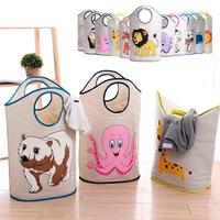 New Waterproof Large Laundry Hamper Bag Lovely Animals Clothes Storage Baskets Home Clothes Barrel Bags Kids