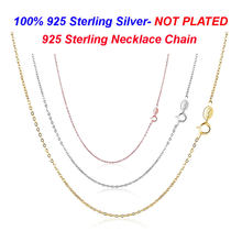 100% 925 Sterling Silver Necklace chain without Pendant VNISTAR Wholesale 925 Silver Jewelry Basic Chain for DIY Necklace(China)