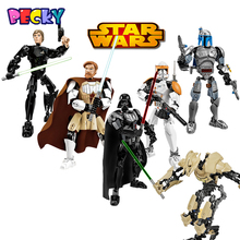 Becky New Star Wars Minifigures General Grievous Darth Vader White Storm Trooper kids toys building blocks compatible legoelieds