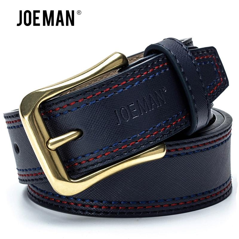 جديد مصمم أحزمة رجالية فاخرة رجل الموضة جلد طبيعي حزام cowskin جودة عالية أسود بني غامق بني فاتح DarkBlue