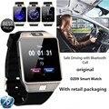 Original dz09 bluetooth smart watch sim/cartão tf para telefones ios android com câmera facebook pedômetro esporte das mulheres dos homens relógio de pulso