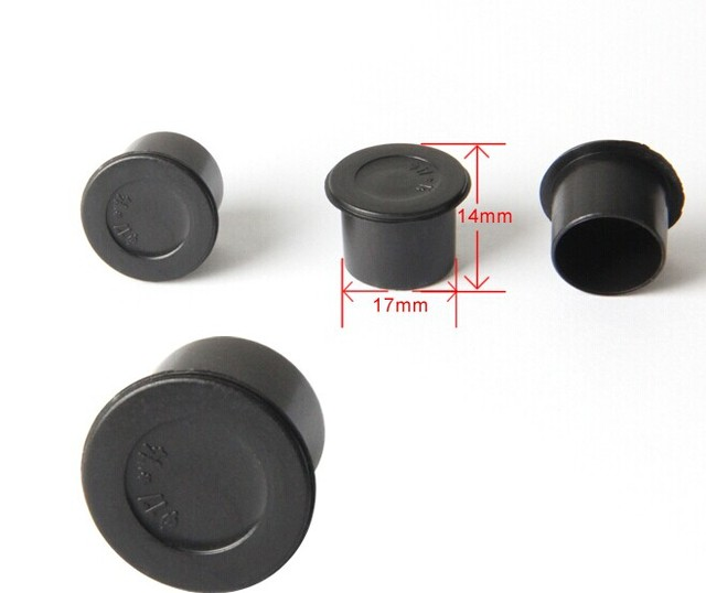 500pcs Plastic Black Ink Cups Caps Tattoo Supplies Accessories 17#14mm
