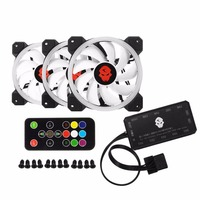 Computer PC Cooler Cooling Fan Double Ring 366 Modes 10 Level Adjust Speed RGB LED 120mm
