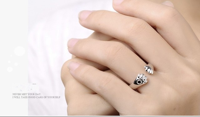 New arrival fashion little cat feet 925 sterling silver ladies`finger rings birthday gift women jewelry wholesale