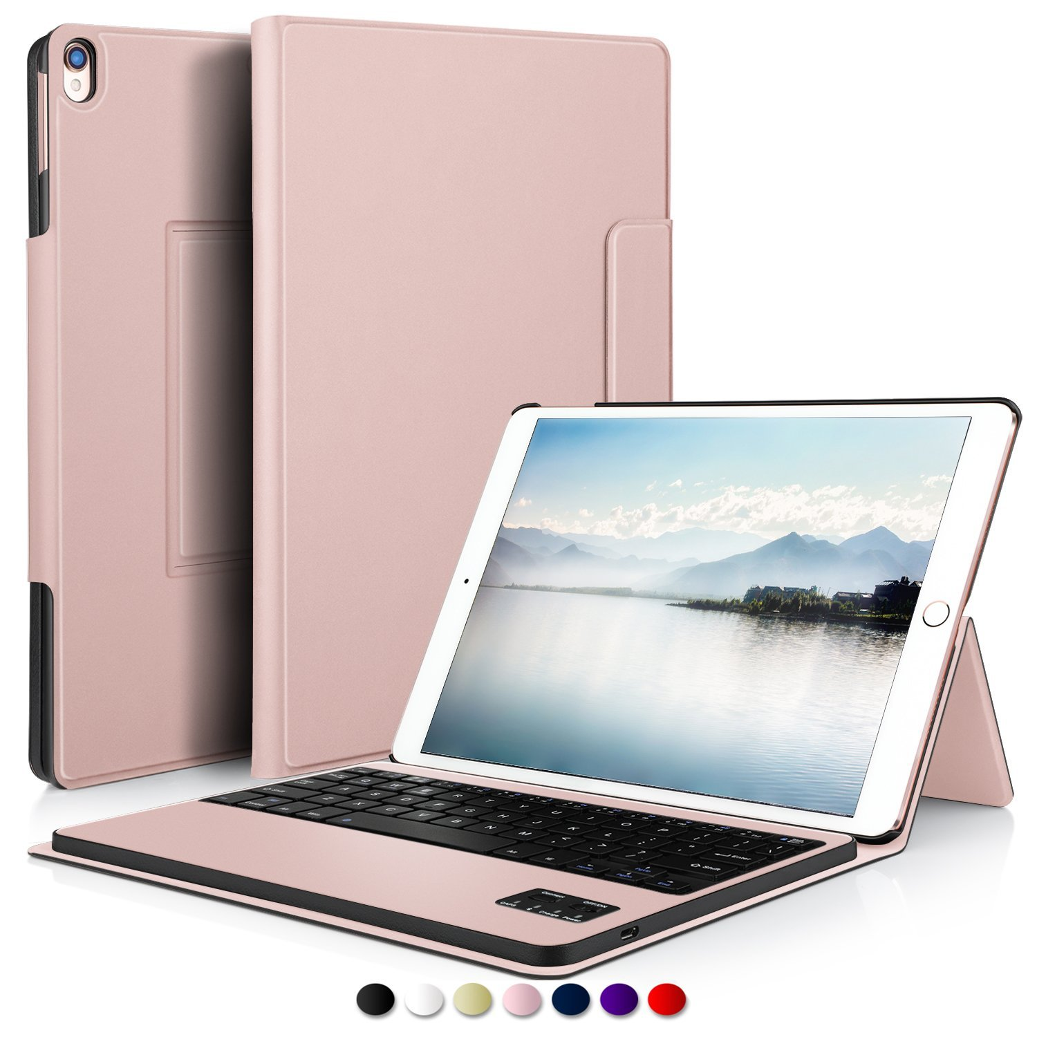 For iPad Pro 10.5 Case With Keyboard, Ultra Thin Detachable Bluetooth Keyboard Stand Case for iPad Pro 10.5 2017 Tablet Case цена и фото