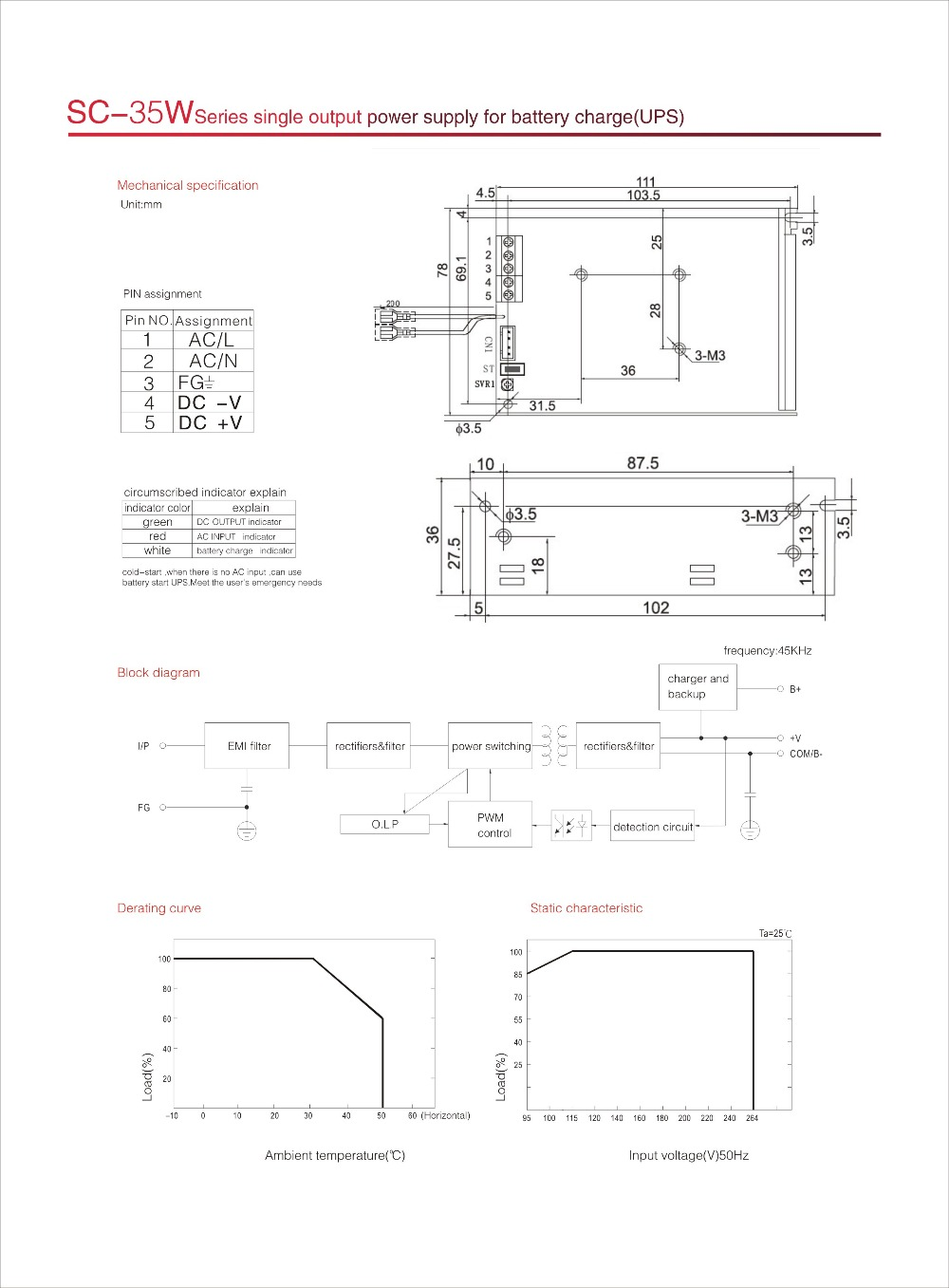Ac Dc Constant Voltage Output 24v 1a Ups Battery Backup Charger Ce Apc Wiring Diagram Rohs Approval 35w Switching Power Supply With Function In From