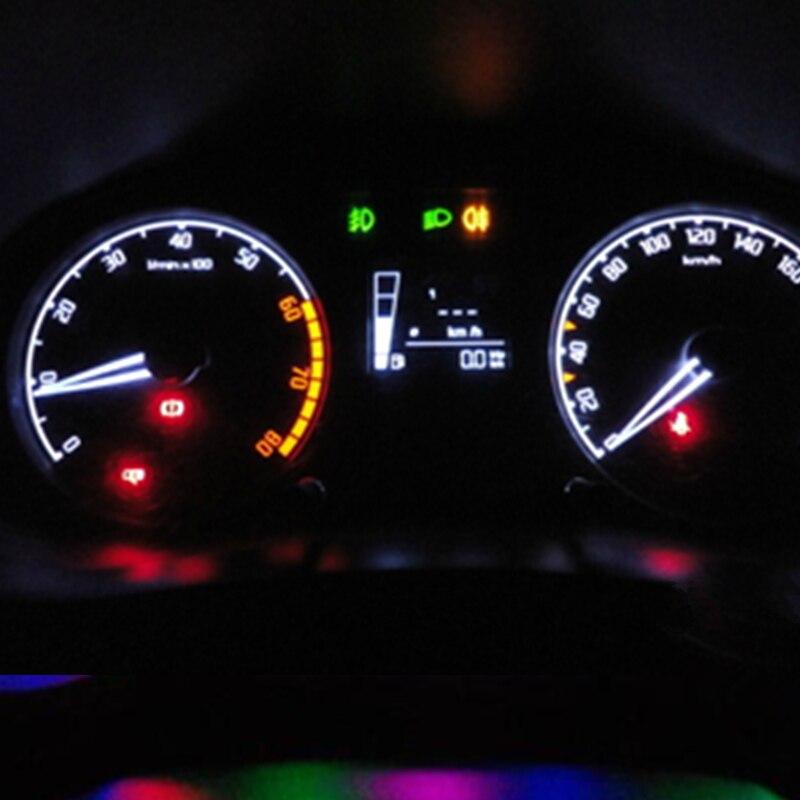 T5 Led 7 Colors Car Led Light 74 73 286 Car Dash Dashboard Led