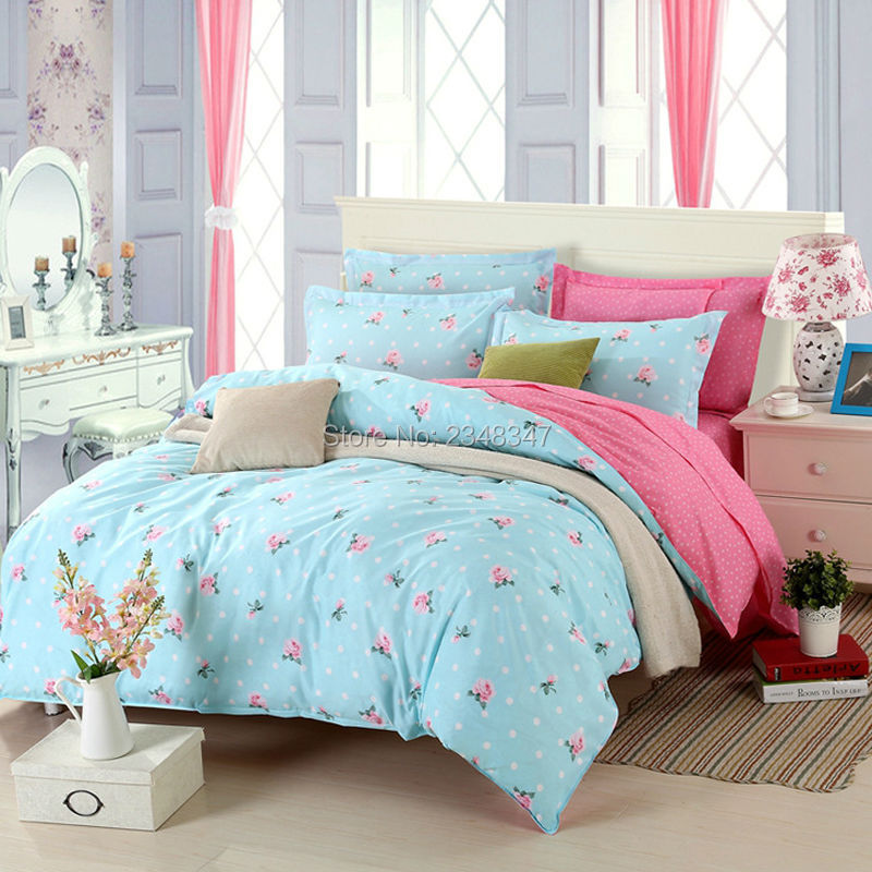4Pcs Single Twin Full Queen King Size Bed Quilt Duvet