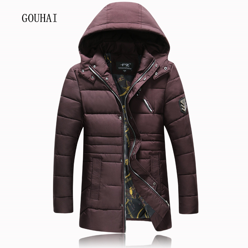 Plus Size M-4XL 5XL Long Winter Jackets Mens Hooded Warm Coats Men 2016 New Fashion Slim Snow Parkas Thick High Quality