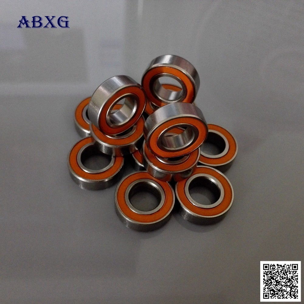 5 PCS 440c CERAMIC Stainless Steel Bearing ABEC-7 Orange 3x7x3 mm S683-2RS