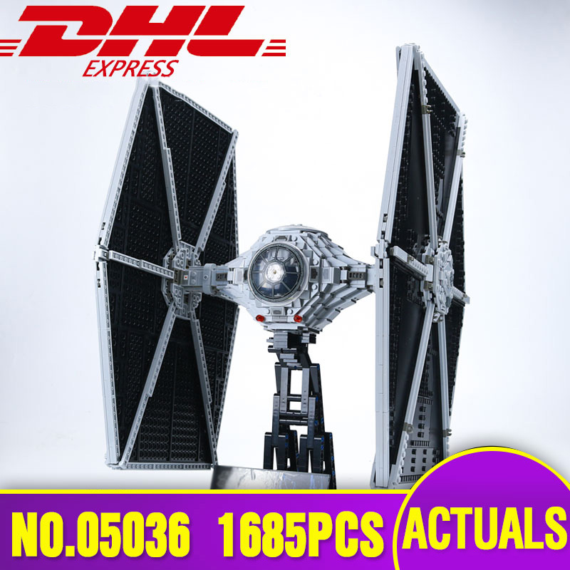 NEW  Lepin 05036  Star Series Tie Wars Fighter Building Educational Blocks Bricks Toys 1685pcs Compatible with 75095 for gift in stock lepin 05035 3803pcs genuine star wars death star educational building block bricks toys kits compatible with j35000