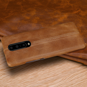 Image 3 - For OnePlus 7/ Pro Case Genuine Leather Case For OnePlus 6 6T Case Cover Luxury Stitching Leather Back Case For OnePlus 7 Pro 6T