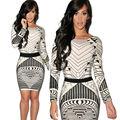 Estilo do verão de Forma Magro Mini Vestido de Impressão 3D Amor Sexy clube Kim Kardashian Vestidos Gráficos Mulher Senhora Vestido de Manga Longa Famale