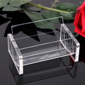 Fashion clear arcylic jewelry display business card storage easy picking up design with durable thickness good quality