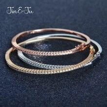 Bracelets en zircone cubique, bijoux couleur or Rose argent, à la mode, cadeaux danniversaire, pour femmes